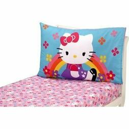 Hello Kitty Stars and Rainbows 2-Pack Toddler Sheet Set by S