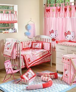 Hello Kitty Striped Crib Bedding Accessory - Bumper