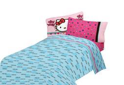 SANRIO Hello Kitty Free Time Microfiber Sheet Set, Full