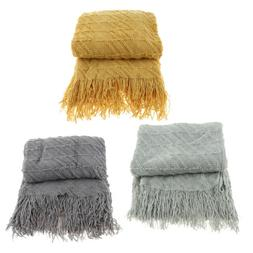 High Quality Throw Blanket Wearable as A Shawl Acrylic Fibre
