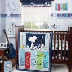 Bedtime Originals Hip Hop Snoopy 3 Piece Crib Bedding Set, B