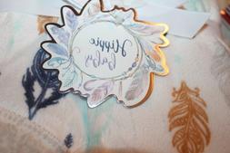 HIPPIE BABY Nasiba Feather Mint Velvet Sherpa Lined Baby Bla