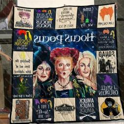 Hocus Pocus I Smell Children I Put A Spell On You Quilt blan