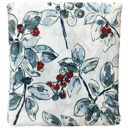 Threshold Holiday Flannel Print Sheet Sets, Queen, Berries -