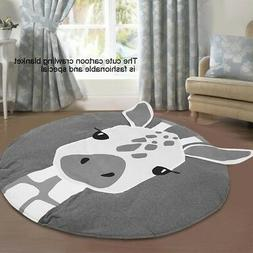 Home Cotton Baby Kids Game Gym Activity Play Mat Crawling Bl