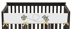 Sweet Jojo Designs Honey Bee Long Front Rail Guard Baby Teet