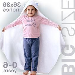 ELLTERA Hooded Babys Towels – 100% Natural Bamboo Extra Si
