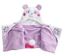 "Children's Hooded Bath Towel Wrap ""Amanda Panda"" by Jumping"