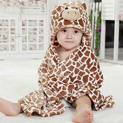 "Hooded ""Brown Cow"" Baby Blanket"