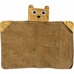Newborn Baby Kids Infant Soft Plush Hooded Blanket Pillow An