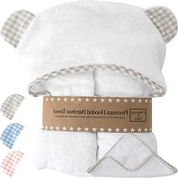Premium Hooded Baby Towels and Washcloth Set - Organic Bambo