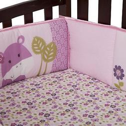Lambs & Ivy Hopscotch Jungle Crib Bumper Pad 4 Pieces