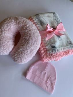Hot Air Balloons Crochet Baby Blanket Gift Set - 3 Piece