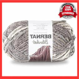 HOT Bernat Blanket Yarn, 10.5 oz, Silver Steel 1 Ball Fabric