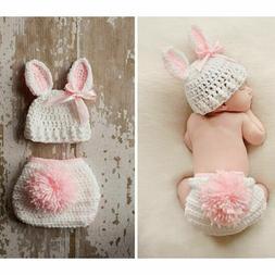 Hot Newborn Baby Crochet Knit Costume Photo Photography Prop