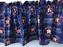 "Houston Astros Baseball Sports Handmade Valance 57"" x 13"""
