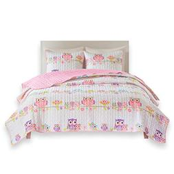 Comfort Spaces - Howdy Hoots Kids Bedspread Mini Quilt Set -
