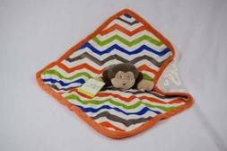 Baby Starters HTF NWT Lovey Security Blanket Rattle Monkey C