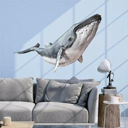 Humpback Whale Wall Decal Vinyl Sticker Graphic Whale Wall A