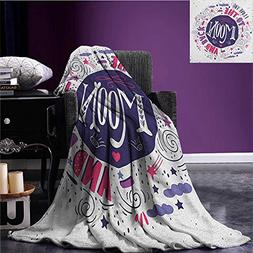 I Love You outdoor blanket Sweet Colorful Love with Fun Form