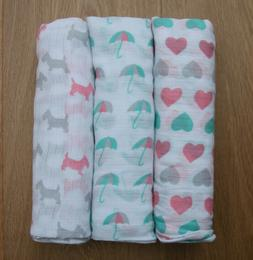 ideal baby aden anais swaddle blanket hearts