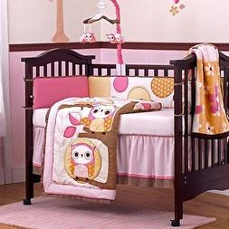 Cocalo In the Woods 9pc Crib Bedding Set Bumper Girls NURSER