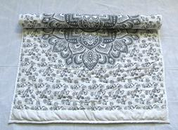 Indian Vintage Baby Blanket Quilt Print Handmade Cotton Fabr
