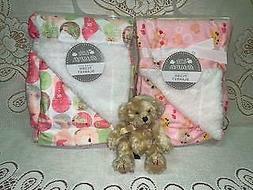 Infant Baby Blanket Girls Premium Plush Faux Fur Softness 30