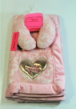 Betsey Johnson Infant Baby Blanket w/ Support Pillow color P
