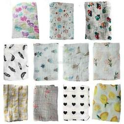 Infant Baby Kids Muslin Soft Swaddle Sleeping Blanket Newbor