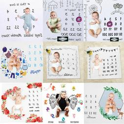 Infant Baby Monthly Growth Milestone Blanket Photography Pro