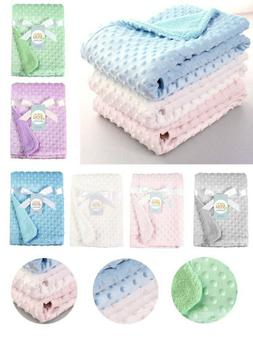Infant Baby Solid Swaddle Sleep Stroller Soft Fleece Blanket