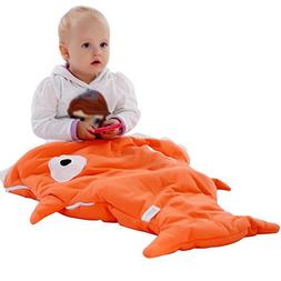 Scheppend Infant Cartoon Shark Sleeping Bag Stroller Blanket