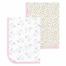 Hudson Baby Interlock Cotton Swaddle Blanket, 2 Pack, Magica
