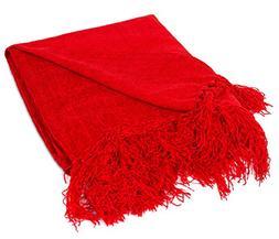 BIRDROCK HOME Internet's Best Chenille Throw Blankets   Re