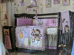 CoCaLo Jacana 6-piece Pink Monkey Nursery Crib Set