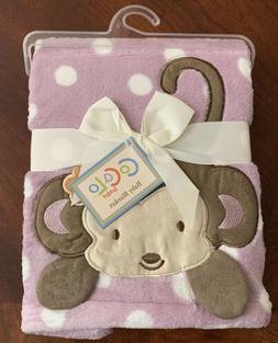 Cocalo Jacana Boa Baby Blanket Purple Polka Dots Girl Monkey