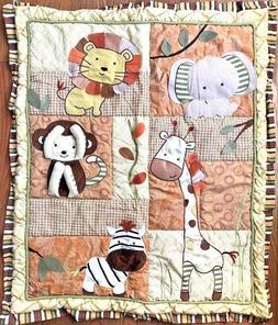 CoCaLo Jacana Crib Nursery Baby Blanket Pink Safari Monkey A