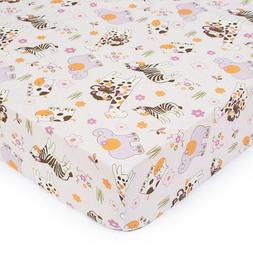 CoCaLo Jacana Fitted Sheet - Pink Allover Print
