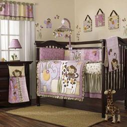 Cocalo JACANA JUNGLE 5pc Crib Bedding Set bumper Quilt Sheet