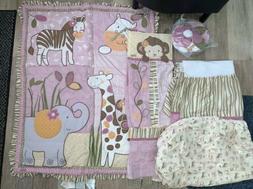 Cocalo JACANA JUNGLE 6-pc Crib Bedding Set Quilt Sheet Nurse