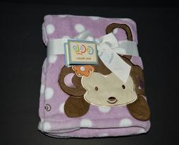 Cocalo Jacana Monkey Baby Girl Purple Polka Dot Security Rec