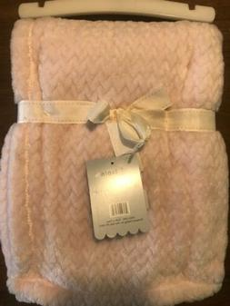 Mon Lapin Jacquard Baby Blanket  Pink Soft Cuddle 30X40  Gir