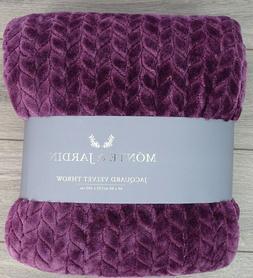 Monte & Jardin Jacquard Velvet Throw Blanket, 60 x 80 in  -