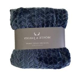 Monte & Jardin Jacquard Velvet Throw Blanket