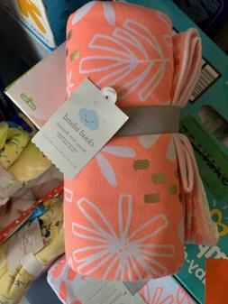 """Cloud Island Jersey Knit Baby Blanket 30 x 40 """"pink lemonade"""