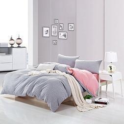 PURE ERA Jersey Knit Cotton Home Bedding Sets Duvet Cover an