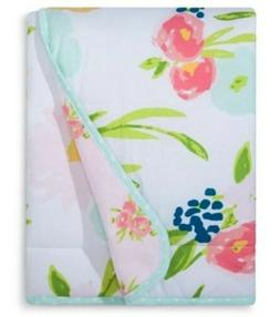 Jersey Knit Reversible Baby Blanket Floral - Cloud Island Pi