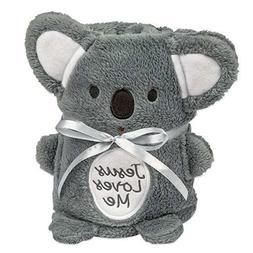 Brownlow Gifts Jesus Loves Me Blankie, Koala Bear