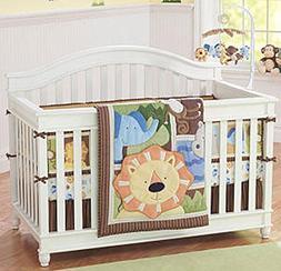Jungle Buddies 4 Piece Baby Crib Bedding Set by Just Born